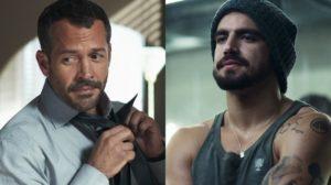 Agno (Malvino Salvador) e Rock (Caio Castro) em A Dona do Pedaço (Foto: Reprodução/Globo)