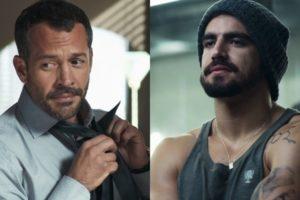 Agno (Malvino Salvador) verá Rock (Caio Castro) nu em A Dona do Pedaço (Foto: Reprodução/Globo)