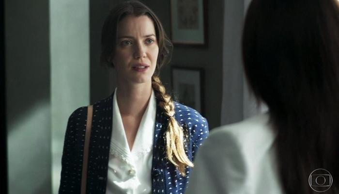 Fabiana (Nathalia Dill) e Vivi (Paolla Oliveira) em A Dona do Pedaço (Foto: Reprodução/Globo)