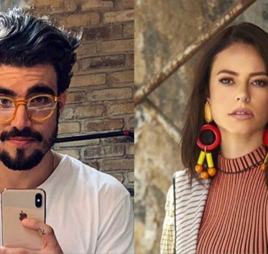 Os atores Caio Castro e Paolla Oliveira nos bastidores de A Dona do Pedaço (Imagem: instagram)