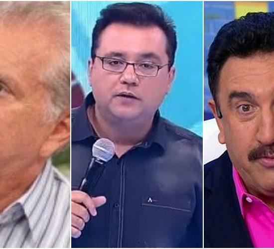 Apresentadores do SBT, Carlos Alberto de Nóbrega e Ratinho vão enfrente o apresentador da Record, Geraldo Luis (Foto: Montagem)