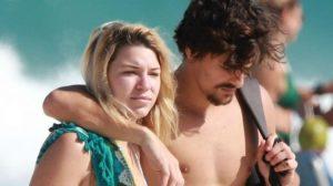 Caroline Moura com Bruno Montaleone - Foto: Divulgação/AgNews