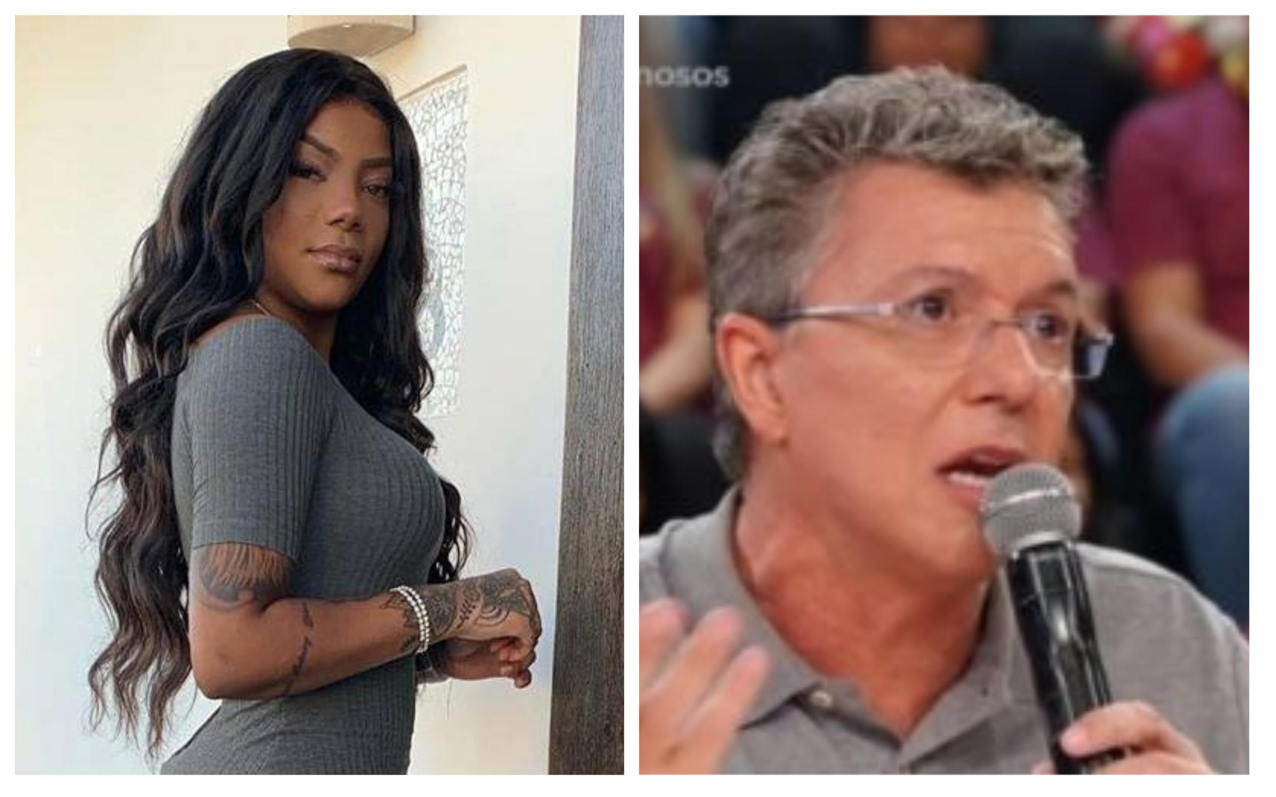 Ludmilla e Boninho se estranharam no Show dos Famosos (Foto: Divulgação)