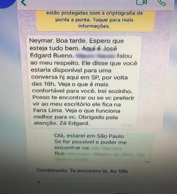 Conversa sobre suposto estupro de Neymar (Foto: Reprodução)