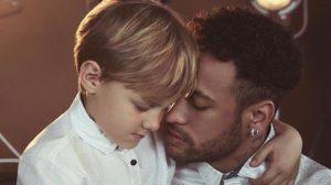 Davi Lucca com o seu pai, o jogador do PSG, Neymar (Imagem/Instagram)