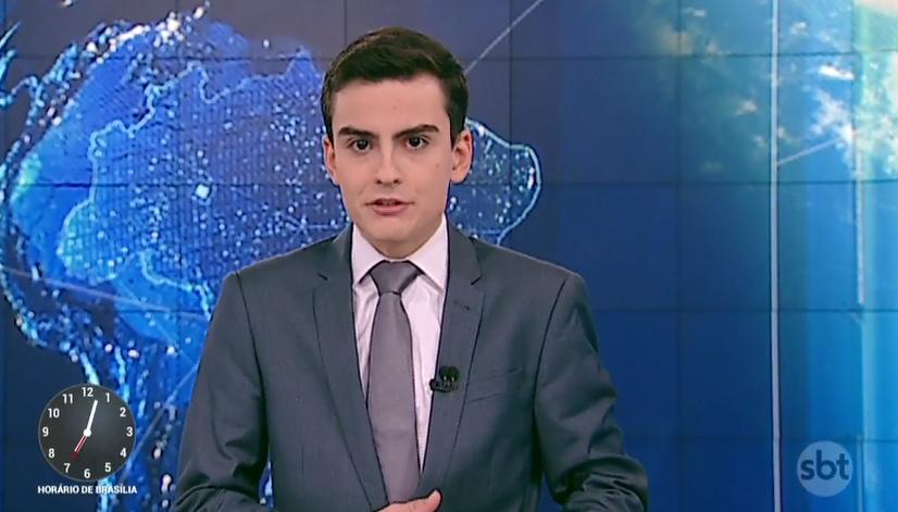 Dudu Camargo, apresentador do SBT, mandou indireta para a Globo (Foto: Reprodução)