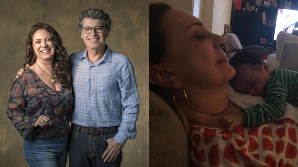 Eliane Giardini e Paulo Betti perderam o neto Antônio, de 1 ano (Foto: Divulgação/ Globo/Instagram - Montagem/TV Foco)