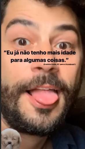 Evaristo Costa, zomba de nova emissora em sua conta pessoal do Instagram (Foto: reprodução)