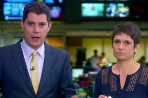 globo cnn brasil Evaristo Costa e Sandra Annenberg (Foto: Divulgação/TV Globo)