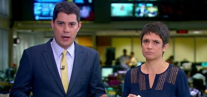Evaristo Costa e Sandra Annenberg (Foto: Divulgação/TV Globo)