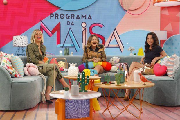 """Giovanna Ewbank, Maisa Silva e Ana Paula Padrão no """"Programa da Maisa"""" (Foto: Divulgação/SBT)"""