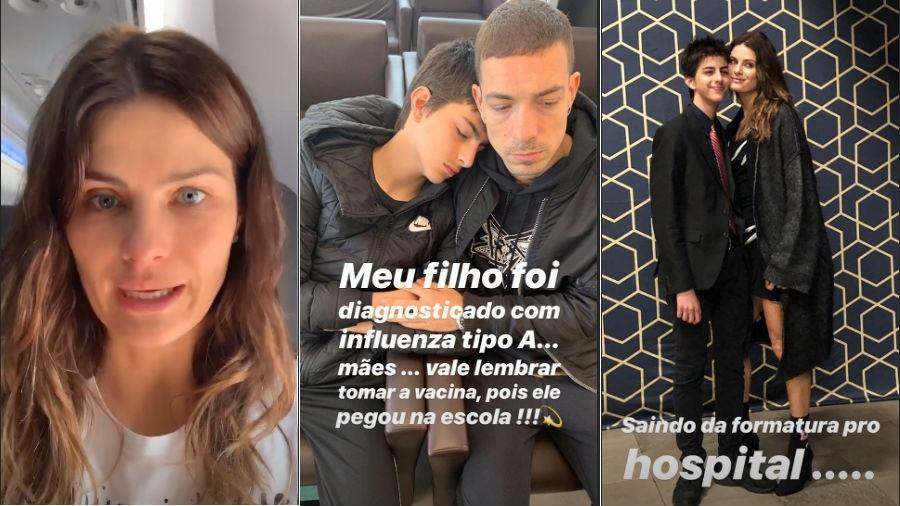 Isabelli Fontana com seu filho Lucas e o marido Di Ferrero (Foto: Reprodução/Instagram)