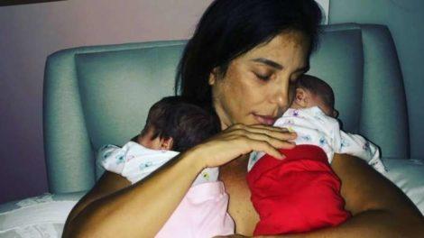 Ivete Sangalo, Marina e Helena, gêmeas fruto da relação com Daniel Cady (Foto: Reprodução/Instagram)