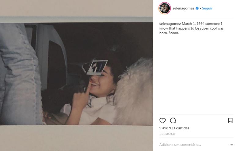 Post deletado por Selena Gomez (Foto: Reprodução)