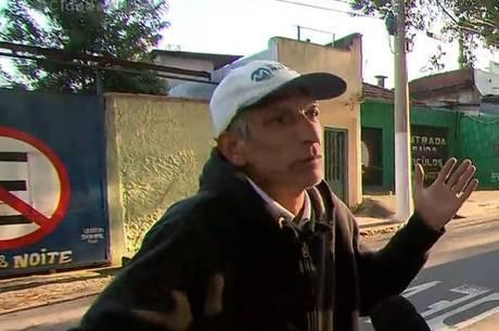 Joel Cupertino, irmão do acusado de matar Rafael Miguel - Foto: Reprodução/Record TV