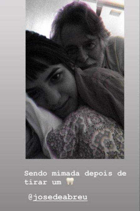 """Na noite desta quarta-feira (05), a namorada do integrante de """"A Dona do Pedaço"""" da Globo, José De Abreu publicou uma nova foto em seu Instagram (Reproduçaõ/Instagram)"""