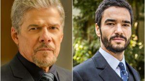 Os atores da Globo, José Mayer e Caio Blat foram acusados de assédio, mas tiram destinos opostos na emissora (Montagem TV Foco)