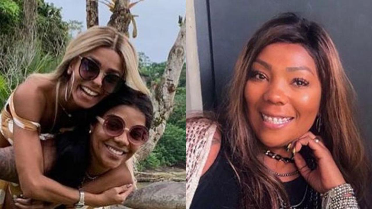 Ludmilla com a namorada Brunna Gonçalves e dona Silvana Oliveira (Foto: Reprodução/Instagram)