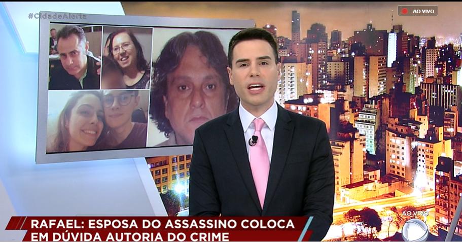Luiz Bacci recebeu ofensa do irmão do assassino de Rafael Miguel (Foto: Divulgação/Record)