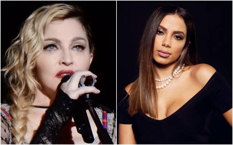 A cantora carioca Anitta se irritou ao descobrir o vazamento na web de trecho de música que gravou com Madonna