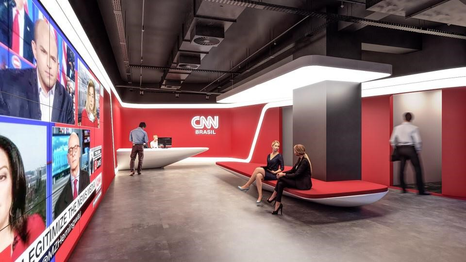 Sede da CNN Brasil, novo canal brasileiro. (Foto: Divulgação)