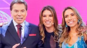 Silvio Santos, Rebeca Abravanel e Patrícia Abravanel (Foto: Divulgação/SBT)