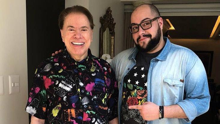 Silvio Santos e Tiago Abravanel - Reprodução/Instagram