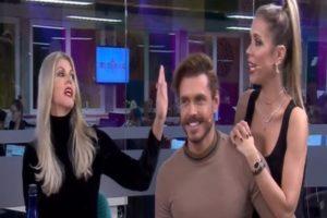 Val Marchiori, Franklin David e Lígia Mendes no Tricotando - Reprodução/RedeTV
