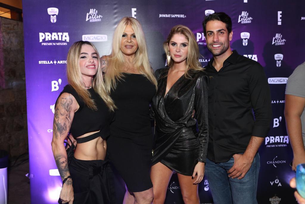 Cacá Werneck, Monique Evans, Bárbara e Gustavo na festa de 'Alto Leblon' (Foto: Reginaldo Teixeira)