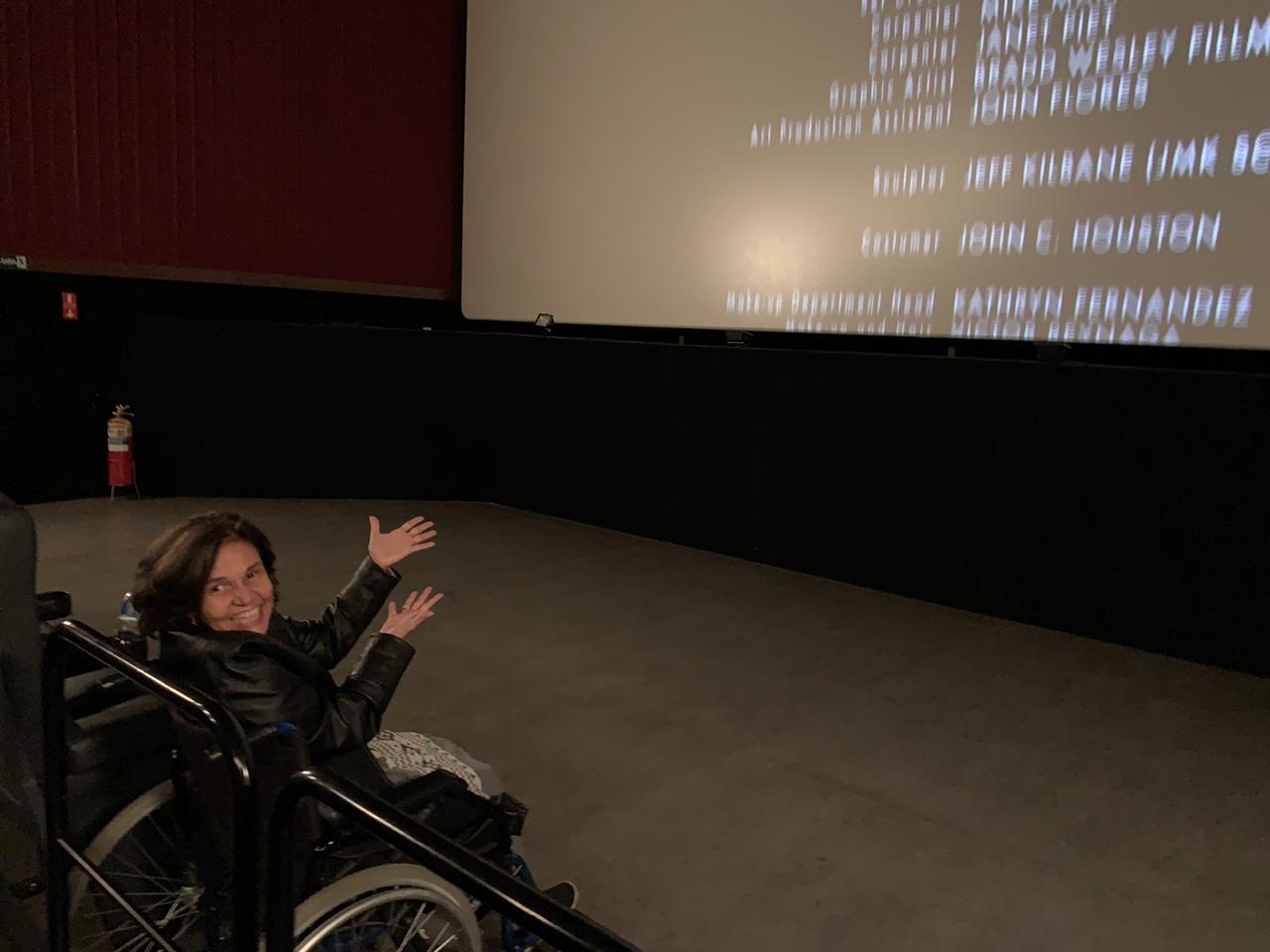 Cláudia de Souza Rodrigues, de A Diarista, foi ao cinema no último fim de semana. (Foto: Divulgação)