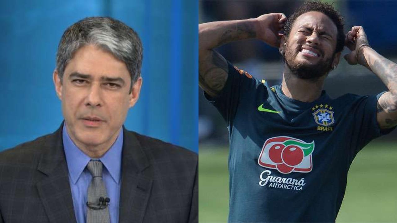 William Bonner, jornalista da Globo, e Neymar (Foto: Montagem)