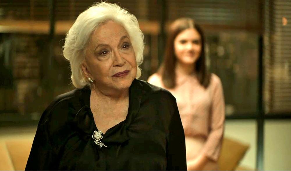 Gladys (Nathalia Timberg) em cena da novela A Dona do Pedaço (Foto: Reprodução/Globo)ovela A Dona do Pedaço da Globo