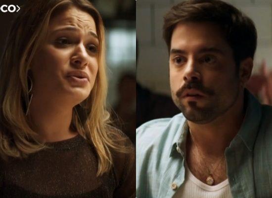 Britney e Abel serão humilhados por Josiane em A Dona do Pedaço da Globo (Foto: Reprodução/Globo)