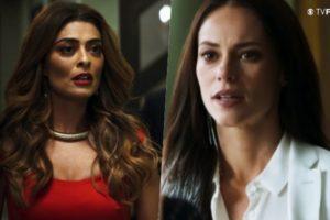 Maria da Paz (Juliana Paes) terá briga com Vivi Guedes (Paolla Oliveira) na novela A Dona do Pedaço (Foto: Reprodução/Globo/Montagem/TV Foco)