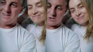Luciano e Angélica aparecem juntos em vídeo pela primeira vez após acidente do filho (Foto: Reprodução)
