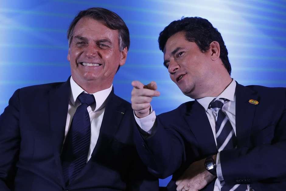 Moro e Jair Bolsonaro (Foto: Reprodução)