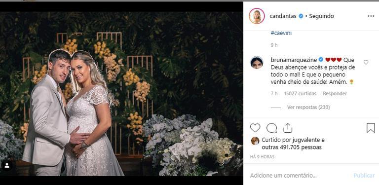 Bruna Marqueine parabenizou Carol Dantas, ex de Neymar (Foto: Reprodução)