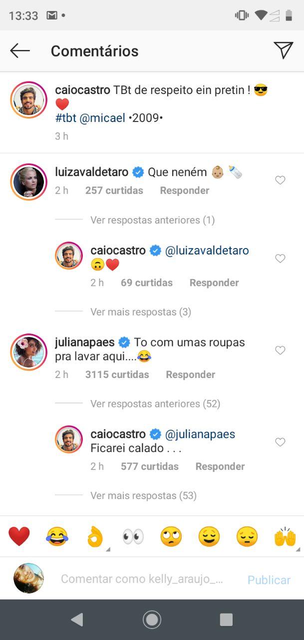 Juliana Paes ousou e deixou Caio Castro constrangido (Foto: Reprodução/Instagram)