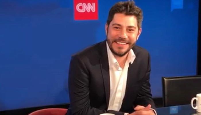Evaristo Costa na CNN (Foto: Reprodução)