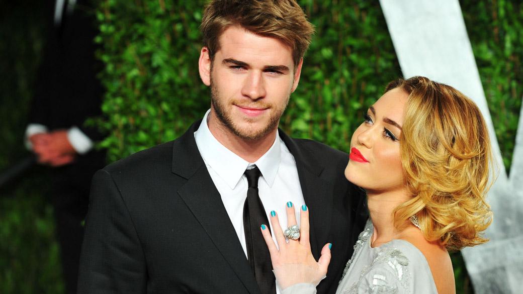 Cantora Miley Cyrus e seu esposo Liam Hemsworth (Foto: Reprodução)