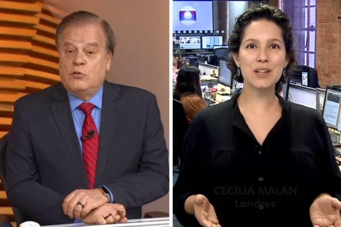 O jornalista da Globo, Chico Pinheiro revela que é primo de Cecília Malan, no Bom Dia Brasil (Foto: Reprodução)