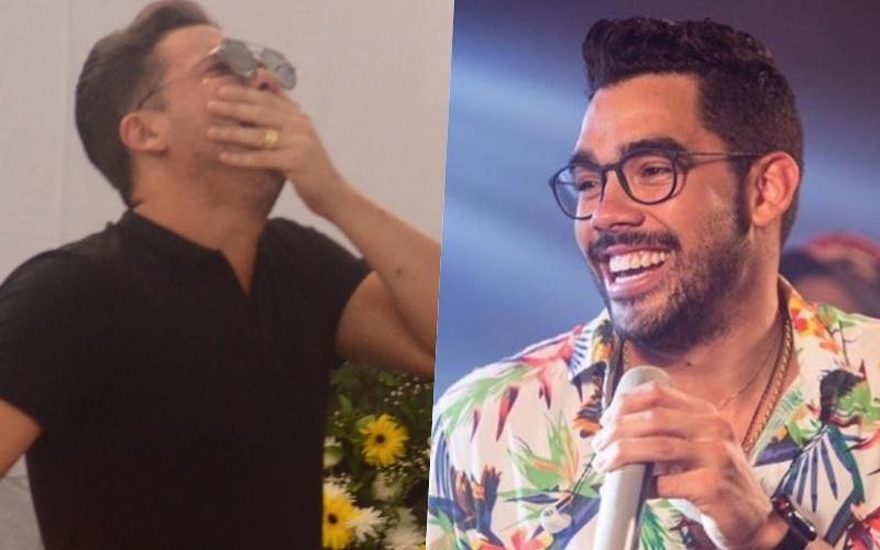 Visivelmente abalado, Wesley Safadão faz primeira aparição após morte de amigo Gabriel Diniz e aparência do cantor assusta fãs Foto: Reprodução