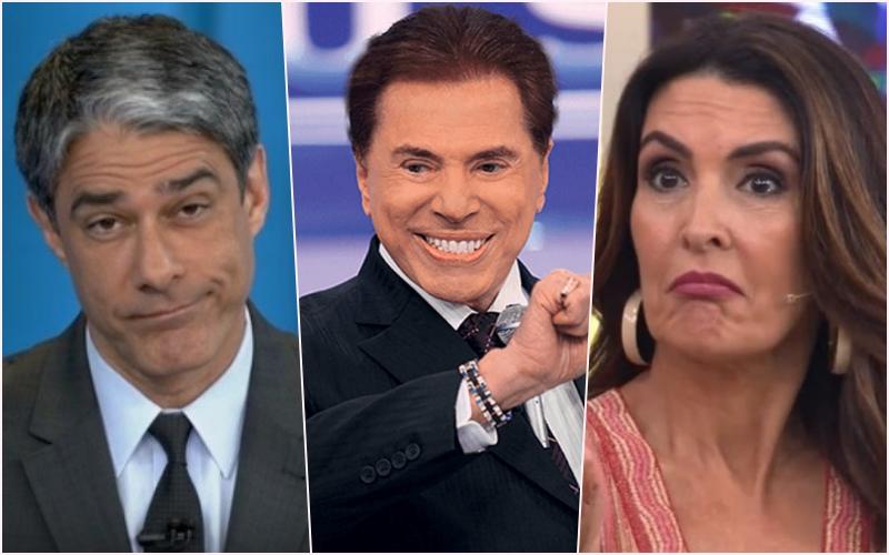 """Silvio Santos recebe ex apresentadores da Globo, ataca William Bonner e elogia Fátima Bernardes: """"mais bonita"""" Foto: Reprodução"""