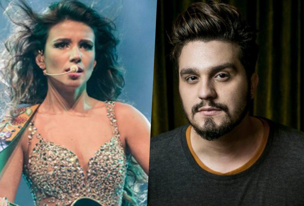 Paula Fernandes e Luan Santana não estarão juntos em gravação de DVD (Foto: Divulgação/Montagem)