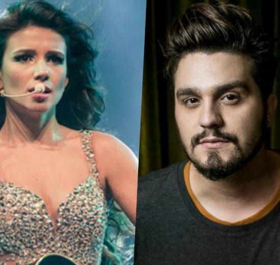 Paula Fernandes e Luan Santana não estiveram juntos em gravação de DVD (Foto: Divulgação/Montagem TV Foco)