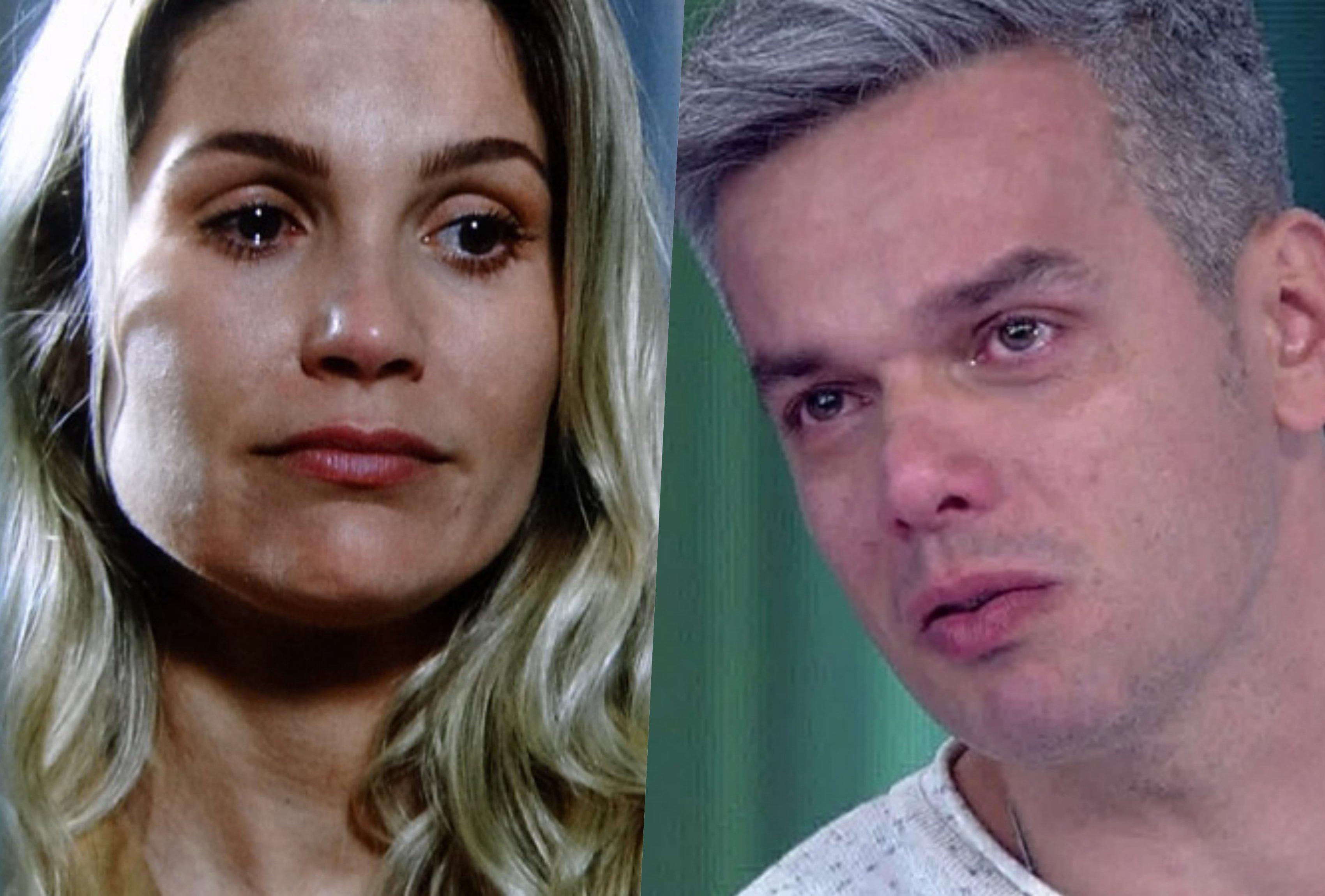 Flávia Alessandra e Otaviano Costa (Foto montagem)