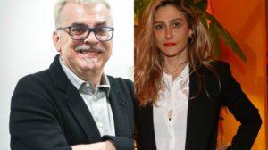 O autor Walcyr Carrasco e a diretora Amora Mautner (Foto: Reprodução/Montagem)