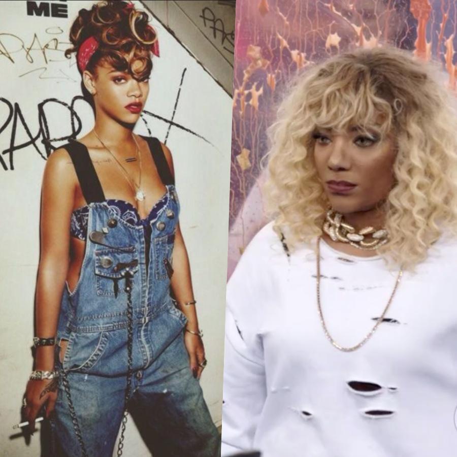 Ludmilla virou Rihanna no Show dos Famosos da Globo no Domingão do Faustão Foto: Reprodução