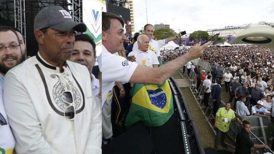 Bolsonaro joga chapeu carríssimo de Valdemiro, dono da Igreja Mundial (Foto: Reprodução)