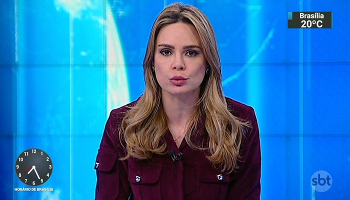 A apresentadora Rachel Sheherazade, do SBT (Foto: Reprodução)